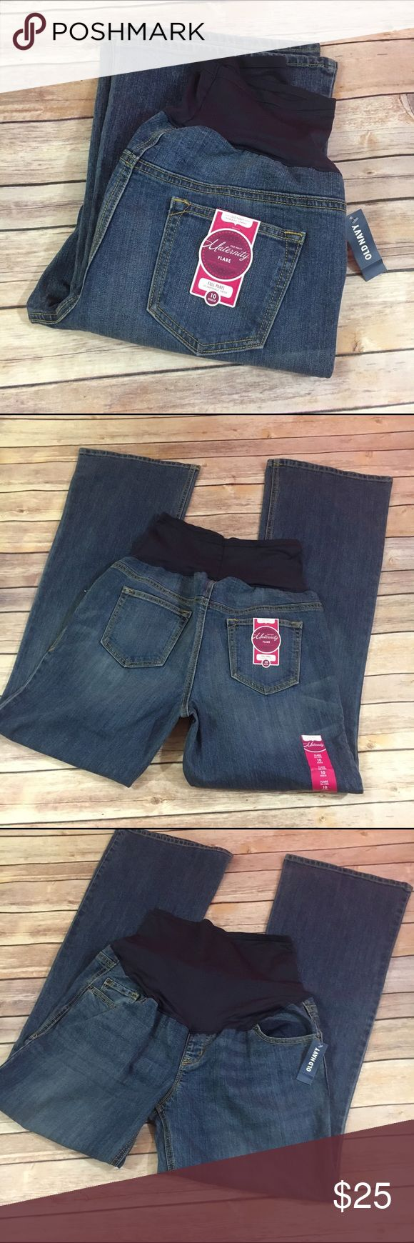 NEW NWT Old Navy Hello Pretty Mama Flare Denim 10 NEW NWT Old Navy Hello Pretty Mama Flare Denim Maternity Jeans 10  New with tags.  Full panel, five pocket style.  Stretch denim.  #new #nwt #jeans #maternity #blue #denim #flare #fullpanel #pregnancy #pregnant #stretch Old Navy Jeans Flare & Wide Leg