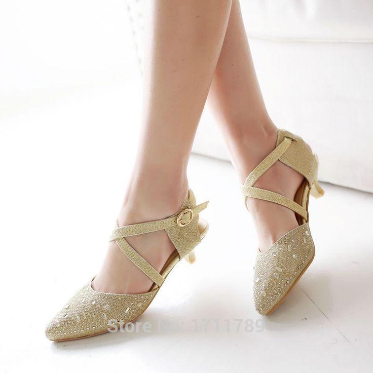 Aangekomen fashion voorjaar zomer schoenen vrouwen sandalen lage hakken cross-gebonden sandalen party schoenen strass grote maat 34-43 0125