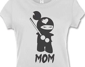mom ninjas   Ninja Mom T-Shirt - Ninja Theme Par ty - Family Pictures - Pregnancy ...
