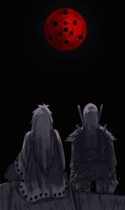 #Madara and #Hashirama friends, only in the Eye of the Moon #naruto