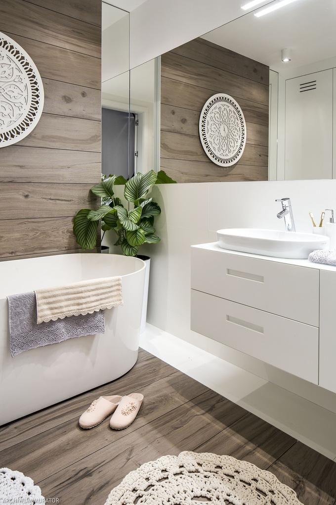 Płytki Drewnopodobne W łazience In Bathroom In 2019