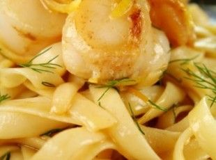 Seafood Pasta in Lemon Butter Sauce Recipe - made with Trader Joe's Seafood Blend