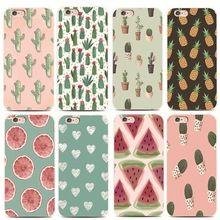 Padrões de Flores Coloridas 4S 5S de Frutas Para o iphone 6 s 7 plus para Samsung s4 s5 s6 A5100 s7Edge A720 S8plus plástico Rígido telefone caso(China)
