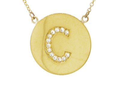 Jennifer Meyer - Diamond Letter Necklace karat gold with a diamond initial on a 14 karat gold chain Very simple and beautiful.