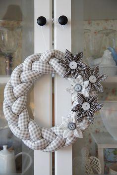 Beautiful Braided Fabric Wreath.