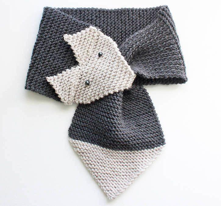 Gina Michele: Fox Scarf free pattern [knitting pattern- women & child sizes]