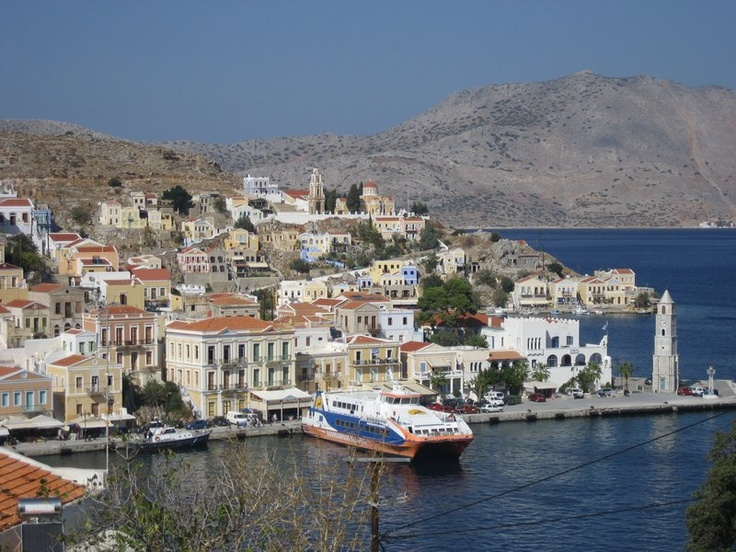 Symi Harbour, #Symi Island, #Greece