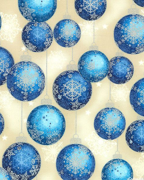 Radiant Holiday - Frosted Ornaments - Sapphire Blue/Silver