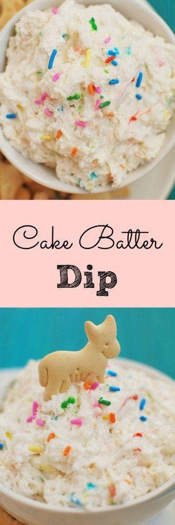 Cake Batter Dip - your new favorite dessert dip.