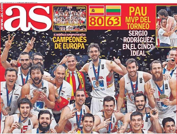 Portadas de los periódicos deportivos de España y Europa hoy Lunes, 21 de septiembre de 2015 - MARCA.com