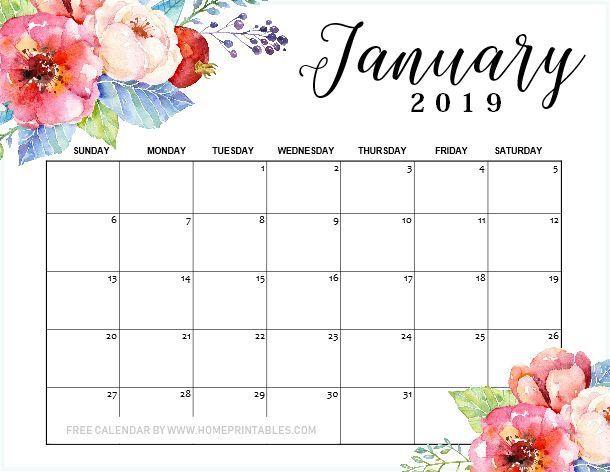 January 2019 Calendar Printable 10 1 Designs For Free Download