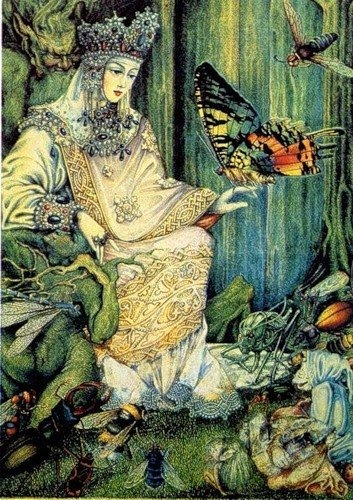 russian fairy tale....strikingly beautiful...i love everything about it! Whimsy, nature, color, detail.