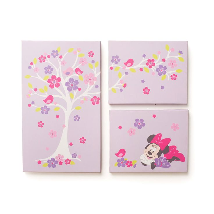 "Disney Baby Minnie Mouse Love Blossoms Premier Wall Art - Kids Line - Babies ""R"" Us"