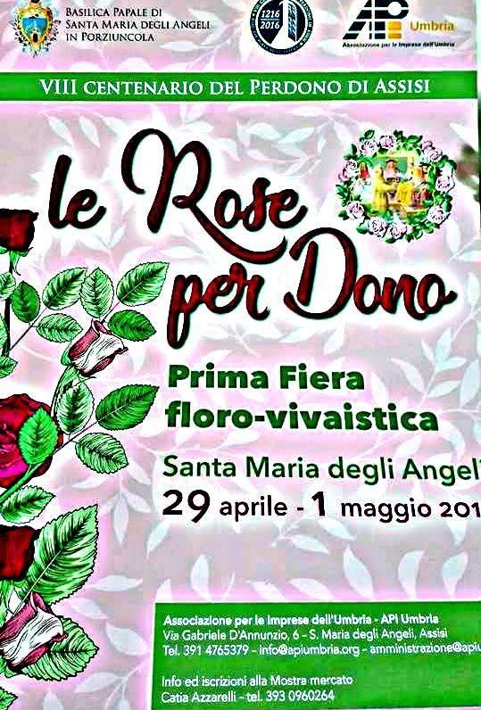 categoria evento Eventi nella sezione Fiere. Titolo Evento Le Rose Per Dono Santa Maria D. Angeli Assisi - Fiera Floro-vivaistica. - Assisi(PG), Umbria