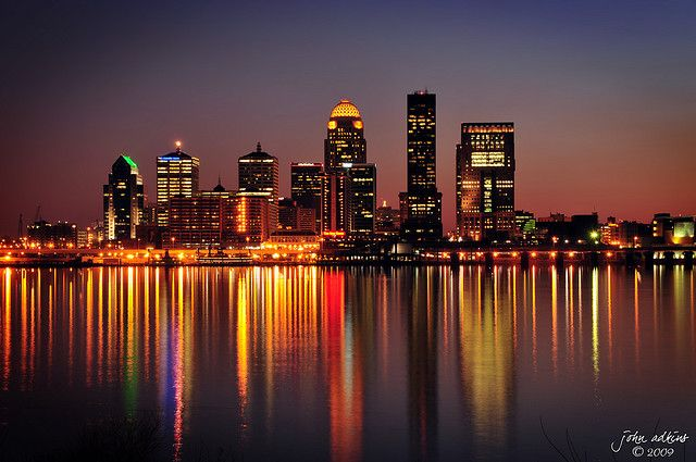Louisville Kentucky at night. I loved Louisville when I went for a youth trip for NAYC 2013. I would love to go back for a visit again.
