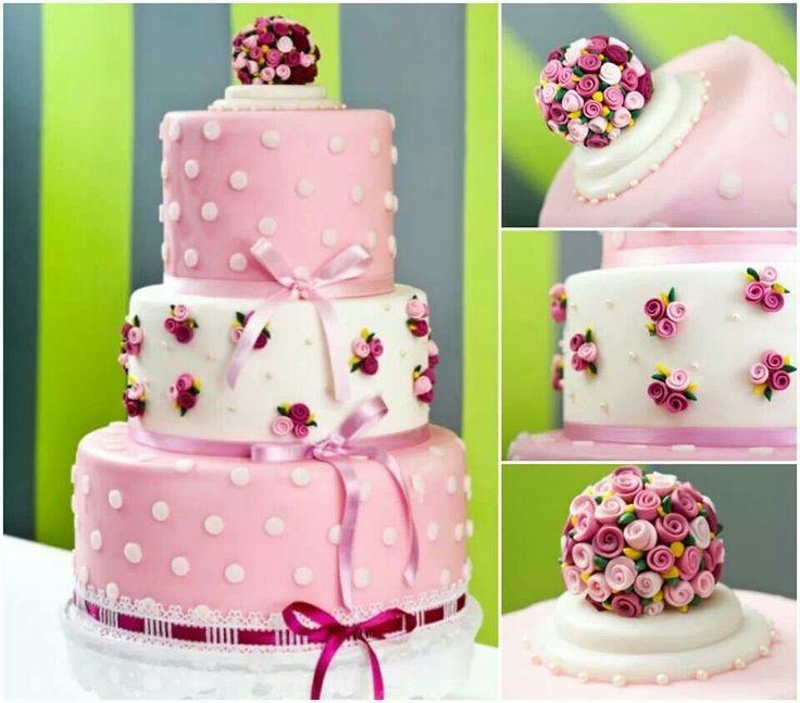 Rose cake tortenideen pinterest for Tortenideen