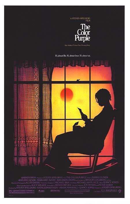 'The Color Purple', starring Whoopi Goldberg and Oprah Winfrey, adapted by Menno Meyjes from the novel by Alice Walker, and directed by Steven Spielberg (1985)