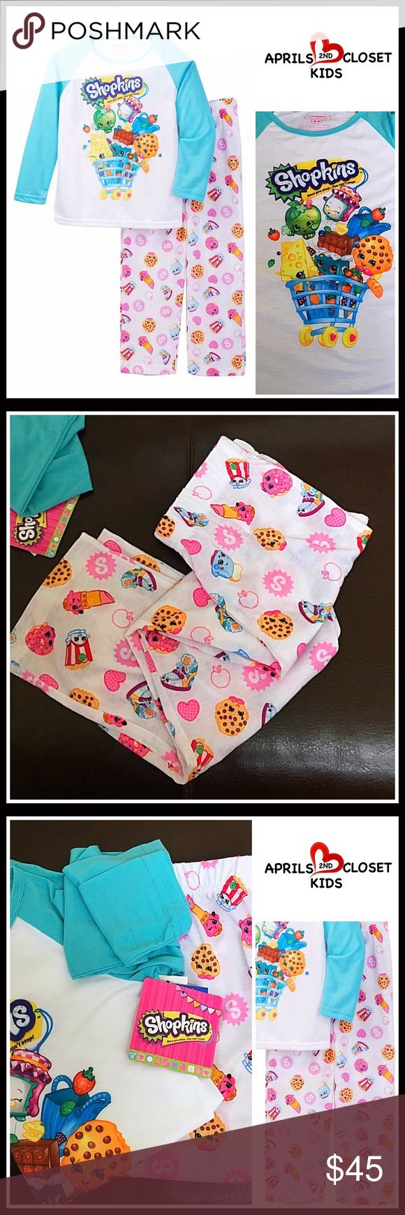 SHOPKINS❤️GIFT PERECT❤️PAJAMAS SET Little Girls NEW WITH TAGS  SHOPKINS PAJAMAS SET Little Girls  * Super soft fabric  * 2-piece set   * Consumer Product Safety approved   * Scoop neck, long sleeves top  * SHOPKINS hereos print front  * Elasticized waist & Allover print bottom   Fabric: 100% polyester Color: Multi SEARCH# 🚫No Trades🚫 ✅ Offers Considered*✅ *Please use the blue 'offer' button to submit an offer. Shopkins Pajamas Pajama Sets