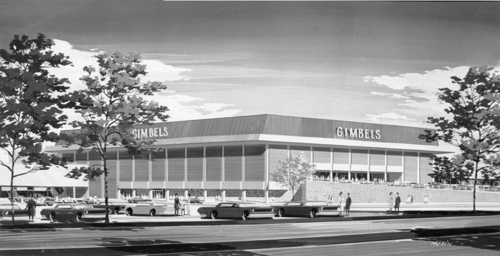 The Plaza at the King of Prussia Mall in 1966, when Gimbels was still there...