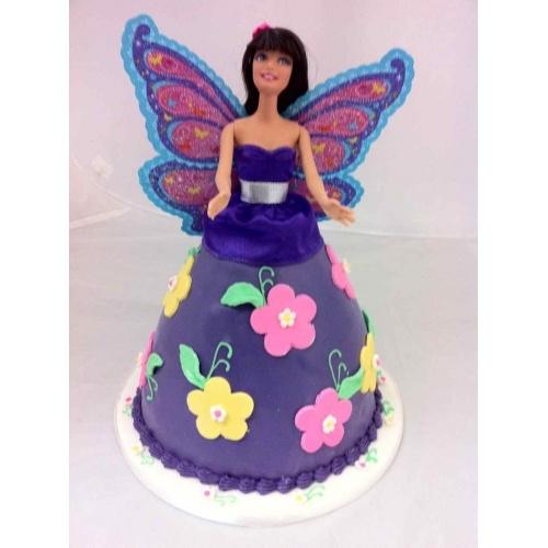 Purple Butterfly Barbie Cake Kids stuff Pinterest