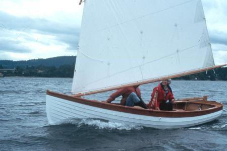 "Gartside Boats - Custom Boatbuilding - 14 ft Lapstrake Sailing Dinghy ""Skylark"", Design#107"