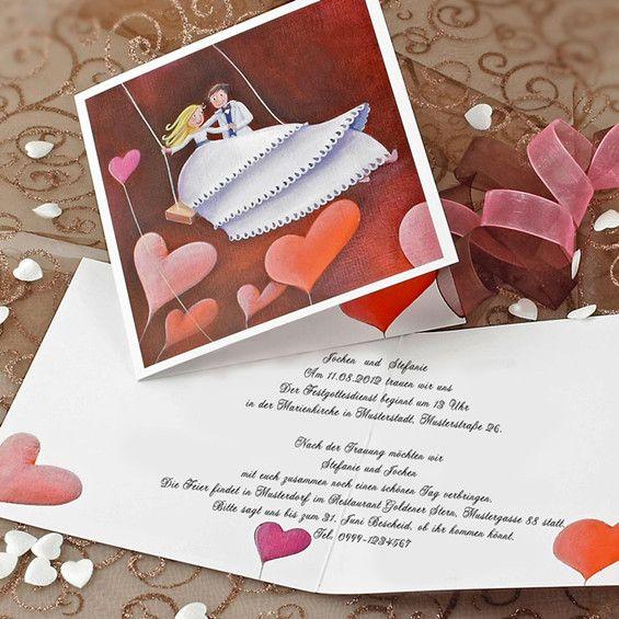 Prinzessin Und Prinz Trauen Sich Hochzeitskarte KP202. Lustige  EinladungenEinladungen HochzeitEinladungskarten ...