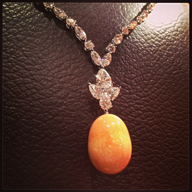 Mikimoto Tahitian Pearl Necklace: One Of A Kind. Mikimoto Melo Pearl Necklace With Diamonds