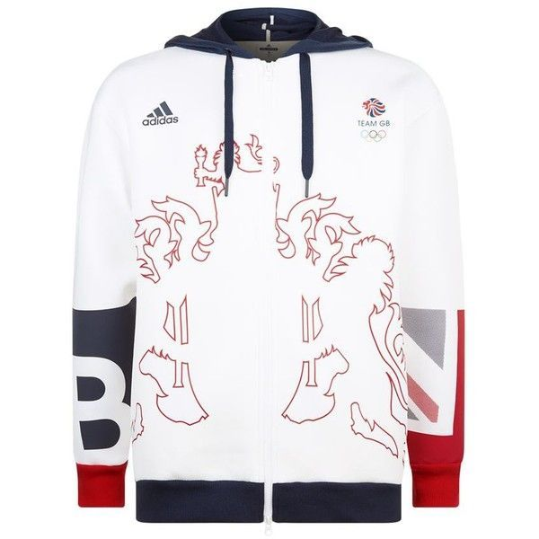 Adidas Team GB Lion Crest Hoodie ($97) ❤ liked on Polyvore featuring men's fashion, men's clothing, men's hoodies, adidas mens hoodies, mens sweatshirts and hoodies and mens hoodies