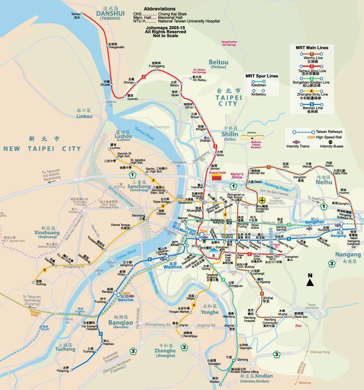 Metro Map of Taipei 台北捷運地圖