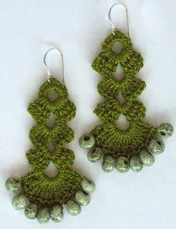 Very pretty crochet earrings