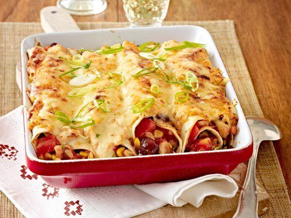 Enchiladas mit Hähnchen - so geht's - enchiladas-mit-haehnchen  Rezept