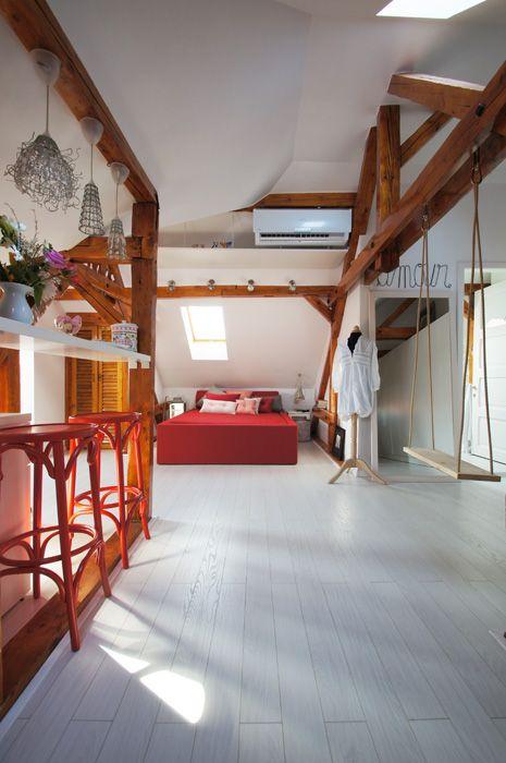 Bucharest, attic, white floor