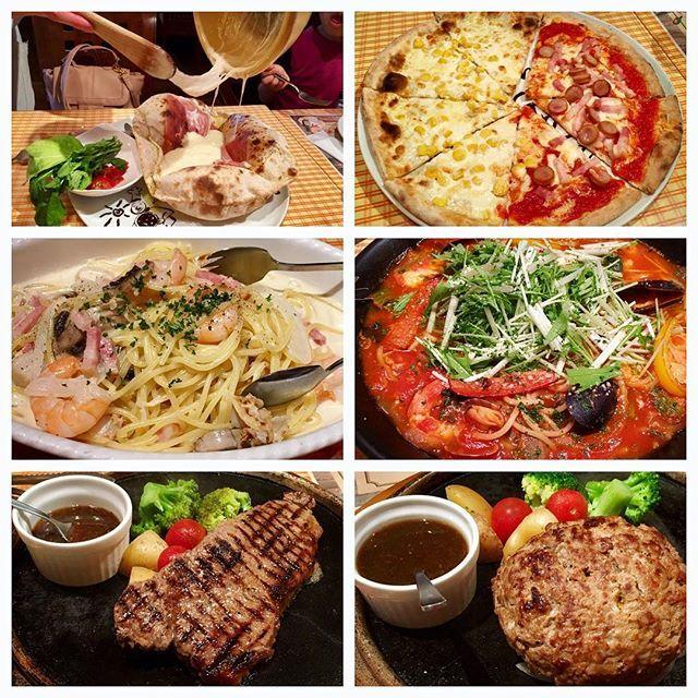 マリノで夕食( ´ ▽ ` ) 期間限定ハンバーグがおいしかった✨  #レストラン #ディナー #カフェ #グルメ #カフェ部 #名古屋レストラン #名古屋カフェ #イタリアン #ピザ #パスタ #ハンバーグ #肉 #マリノ #marino #gourmet #good #dinner