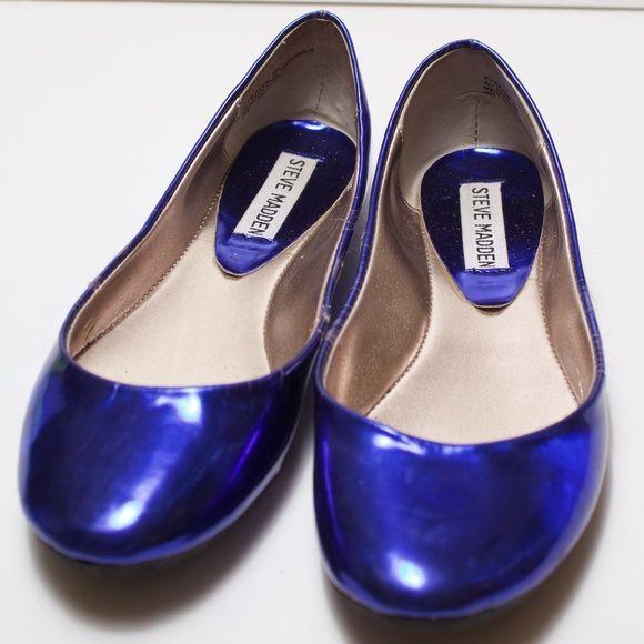 189e6ad1943 Steve Madden Metallic Blue Heaven Flats *READ* Steve Madden Metallic ...