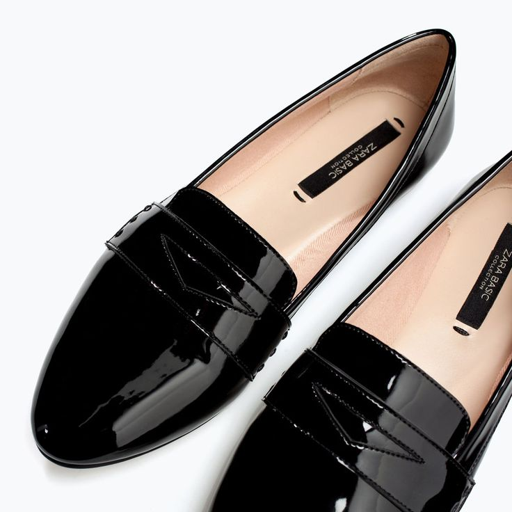 black patent leather SOFT SLIPPER from Zara