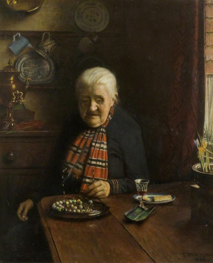 Charles Spencelayh - 'Solitaire', 1952: