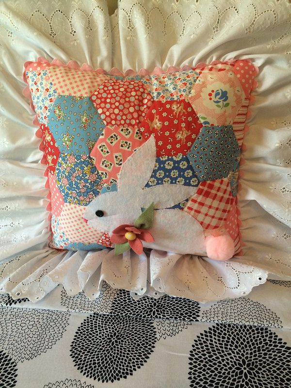 Bunny Pillow Conejo Costura Y Animales