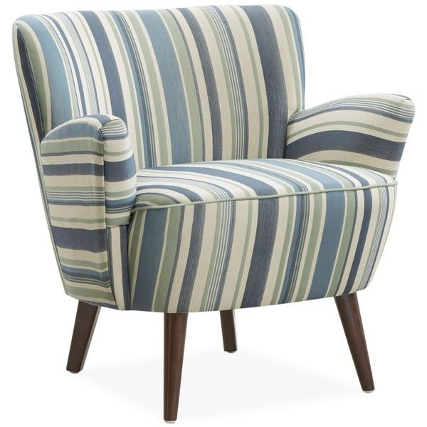 Best Colmar Striped Fabric Accent Chair 249 Liked On 400 x 300