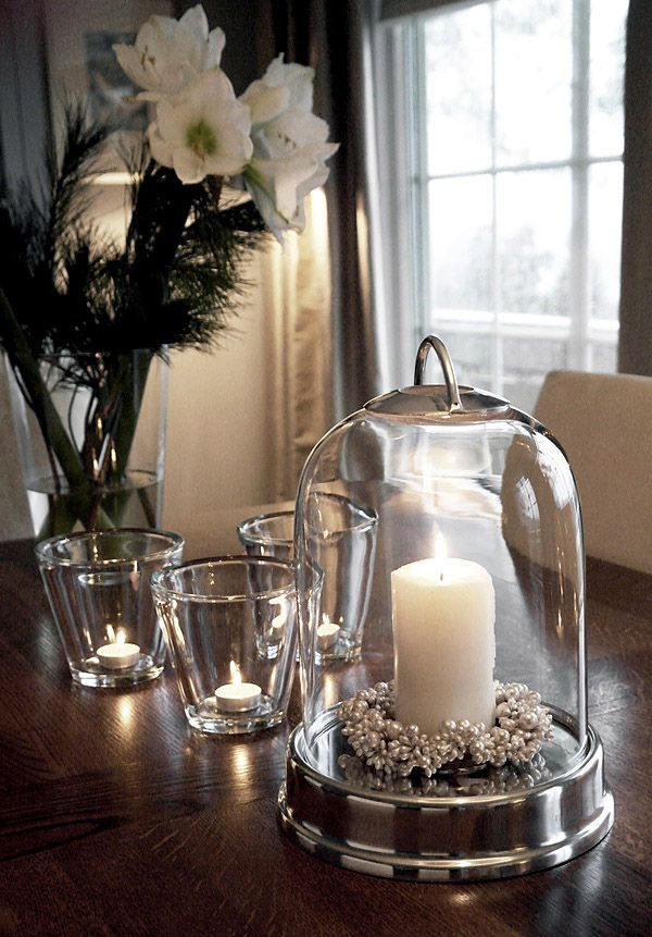 Christmas Decoration Clear Juice Glasses With Votive Candles