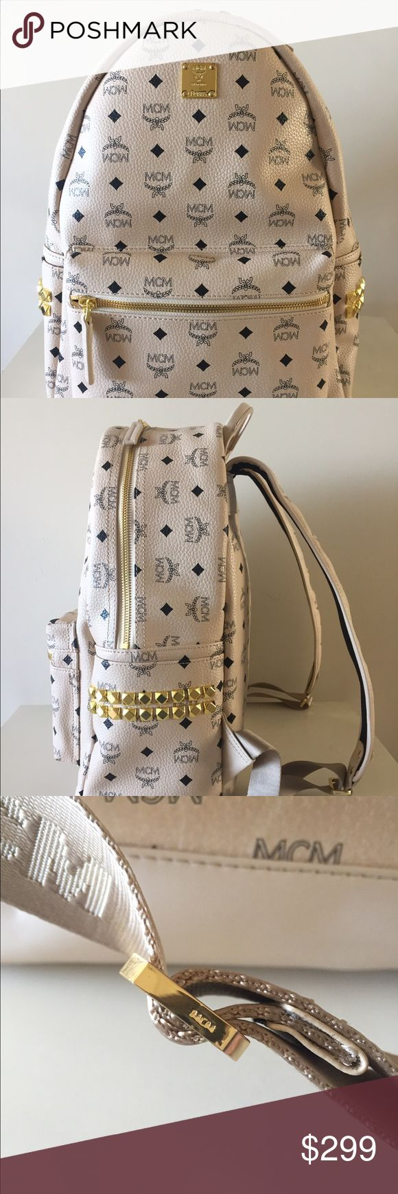 MCM Backpack Beige Medium MCM Bag 100% Authentic MCM Backpack Beige Medium MCM Bag 100% Authentic Guaranteed. If you like this, you'll definitely love my other listings. check em out ^_^ MCM Bags Backpacks