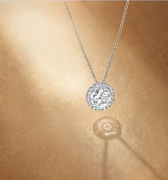 THE gift to give this year...The Center of My Universe™ Round Halo diamond pendant necklace from Forevermark.