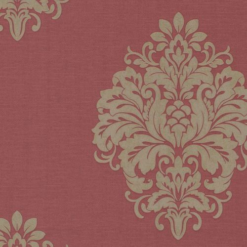 brewster duchess red damask wallpaper