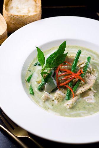 curry verde e pollo