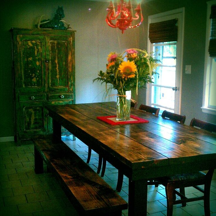 James 8ft Farmhouse Table And Bench