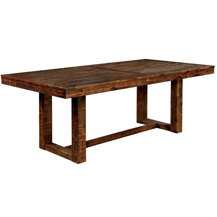 Furniture Of America Tobiath Rustic Dark Oak Dining Table By Furniture Of Ame