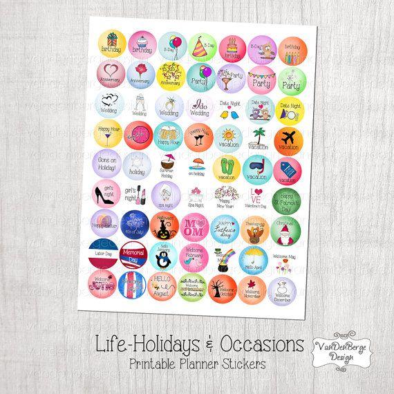 Calendar Monthly Stickers : Best vandenberge design etsy shop images on pinterest