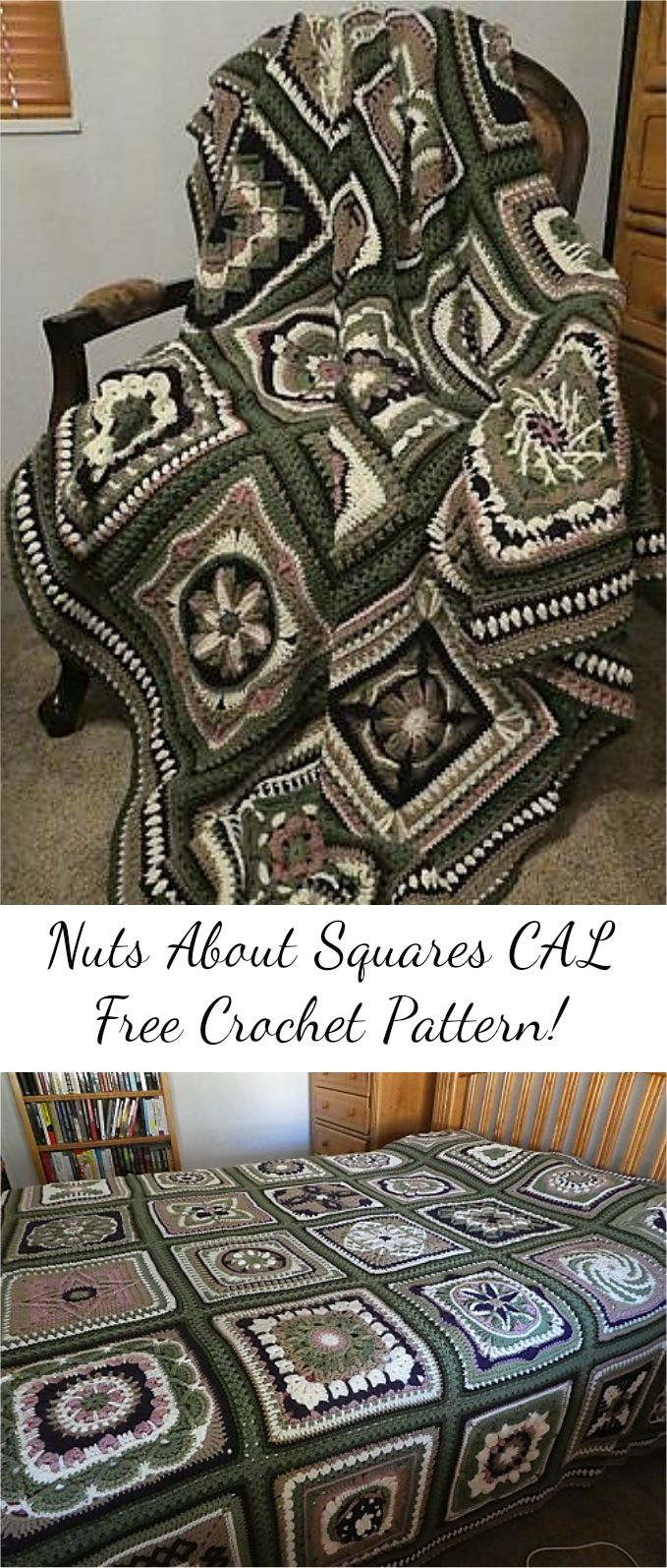 [Free Pattern] Nuts About Squares CAL Free Crochet Pattern! Visit site and follow free crochet pattern & ...