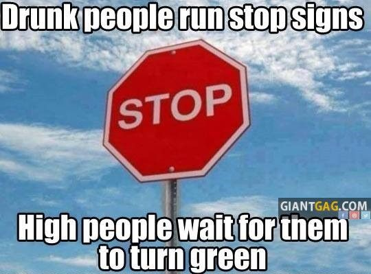 Images of the week -66 pics- Drunk People Run Stop Signs, High People Wait For Them To Turn Green