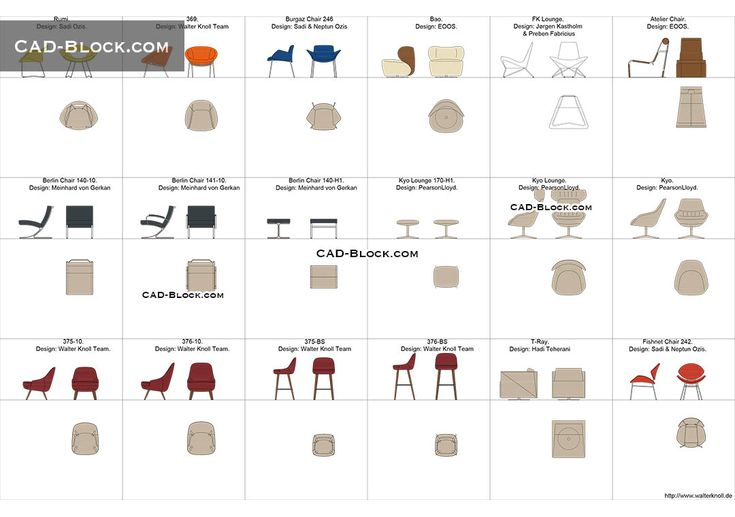 Designer Chairs Free Cad Drawings Cad Blocks Chair