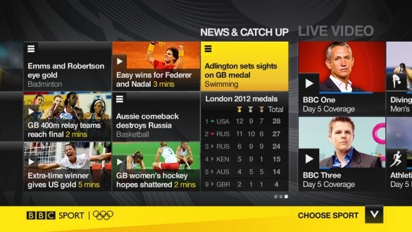 In addition to broadcast output on its own TV channels, the BBC will provide an additional 24 new HD-quality dedicated channels on cable and satellite--rowing on one channel, for example, judo on another. This same content will be streamed on the BBC Sport web site as well as elsewhere online via Facebook and via apps for mobile, tablets and smart TVs and game consoles.